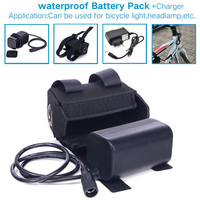 Bateria recarregável à prova d'água  8.4v 6400mah 18650 para bicicleta + carregador