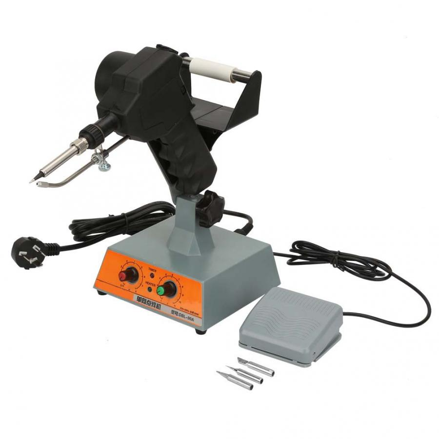 Pedal Control Auto Tin Feeding Machine Solder Station Adjustable Temperature 220V AU Plug Welding Solder