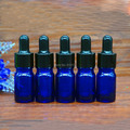 2016 New arrival 5ml Blue Glass Dropper bottle,5cc Empty Essential Oil bottle Small sample Vials Black rubber