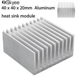 40x40x20mm Aluminium Kühlkörper IC Kühlkörper Kühl Fin Für CPU LED Power Aktive Komponente