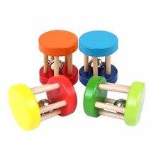 Безопасный забавные деревянная игрушка для малышей Детская интеллектуальная развивающий, образовательный деревянные игрушки спираль погремушки для малышей подарок на день рождения