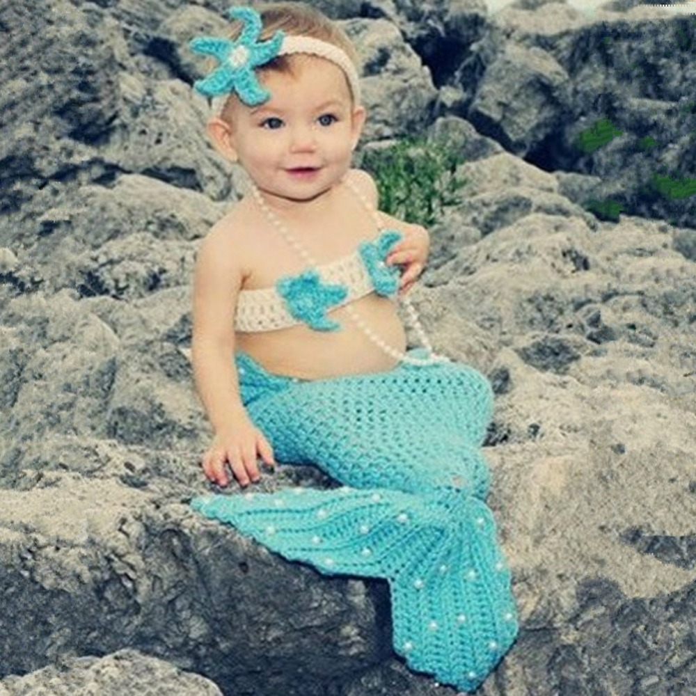 Knitting Pattern For Baby Mermaid Outfit : Online Buy Wholesale light blue outfit from China light blue outfit Wholesale...