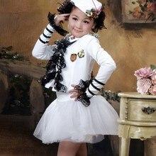 Детский маскарадный костюм; одежда для сцены для маленьких девочек Isabel Colonel; одежда для маленьких матросов