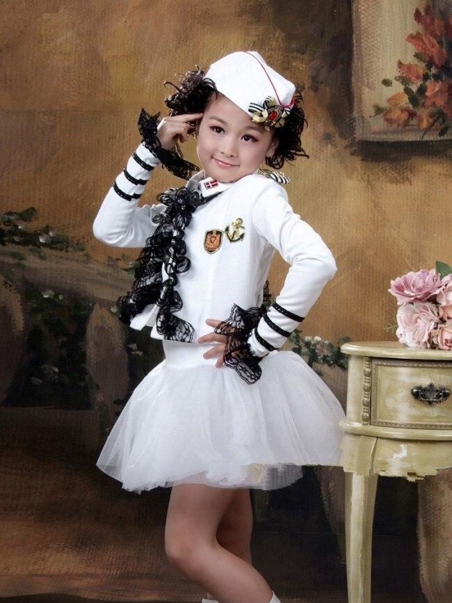 Kinder Cosplay Kostüm Kleine Navy Isabel Colonel Kinder Mädchen Bühne Leistung Kleidung Wenig Sailor Garment