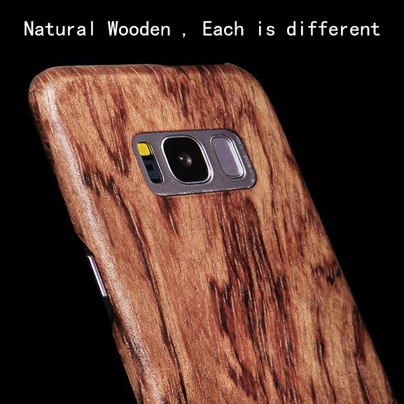Natural Wooden phone case FOR Samsung S8 ,S8 Plus S8plus case cover bamboo/Walnut/Rosewood/Black ice wood/ shell (Real wood)