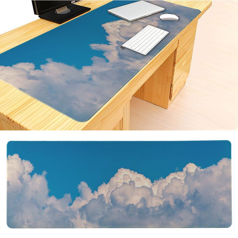MaiYaCa My Favorite Blue sky and white clouds Anti-Slip Durable Silicone Computermats Size for 30x60cm 30x90cm Rubber Mouse Pad