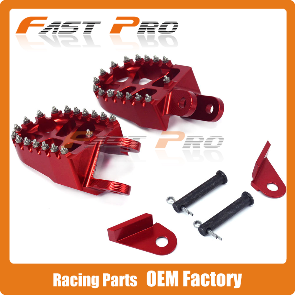 RED Billet MX Wide Foot Pegs Rests Pedals Footpegs For HONDA XR250 XR400 XR350R XR600R XR650L XR650R CR80 Dirt Bike morais r the hundred foot journey