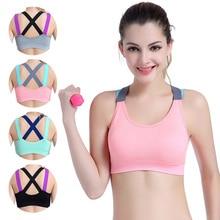 1PC Women Sport Bra Fitness Top Yoga Bra For Cup A-D Black Pink Gray Running Yog