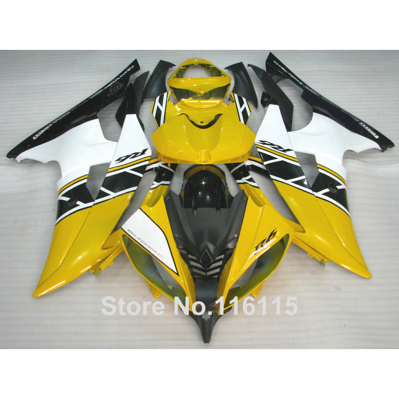 Injection molding High quality ABS fairing kit fit for YAMAHA R6 2008 -2014 yellow white black fairings set YZF R6 08 - 14 ZB32 high quality abs fairing kit for yamaha r1 2002 2003 red flames in black fairings set injection molding yzf r1 02 03 yz32
