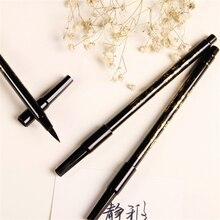 Платины пластиковой головкой рисования каллиграфия ручкой мягкая творческий кисти милый двойной