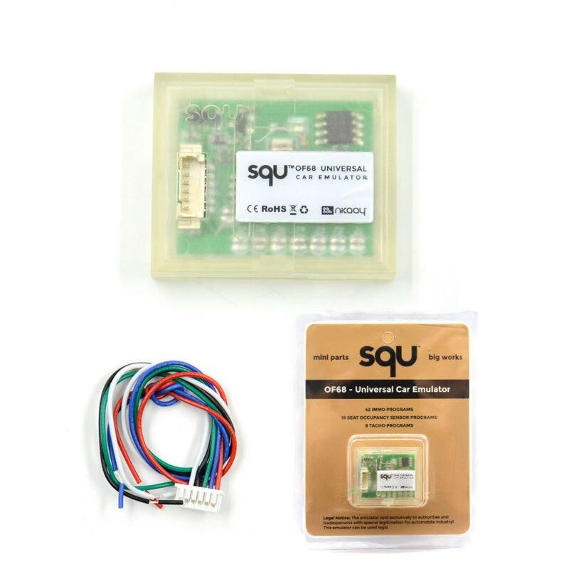 5-10pcs SQU OF68 OF80 Universal car emulator SQU OF 68 support IMMO Seat accupancy sensor Tacho Programs high quality