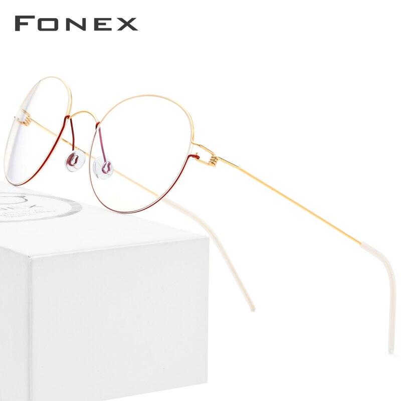 FONEX, титановый сплав, оптические очки, мужские, по рецепту, очки, оправа, Корейская Дания, женские, близорукость, Безвинтовые очки, 98621-in Мужские очки кадры from Аксессуары для одежды on AliExpress - 11.11_Double 11_Singles' Day