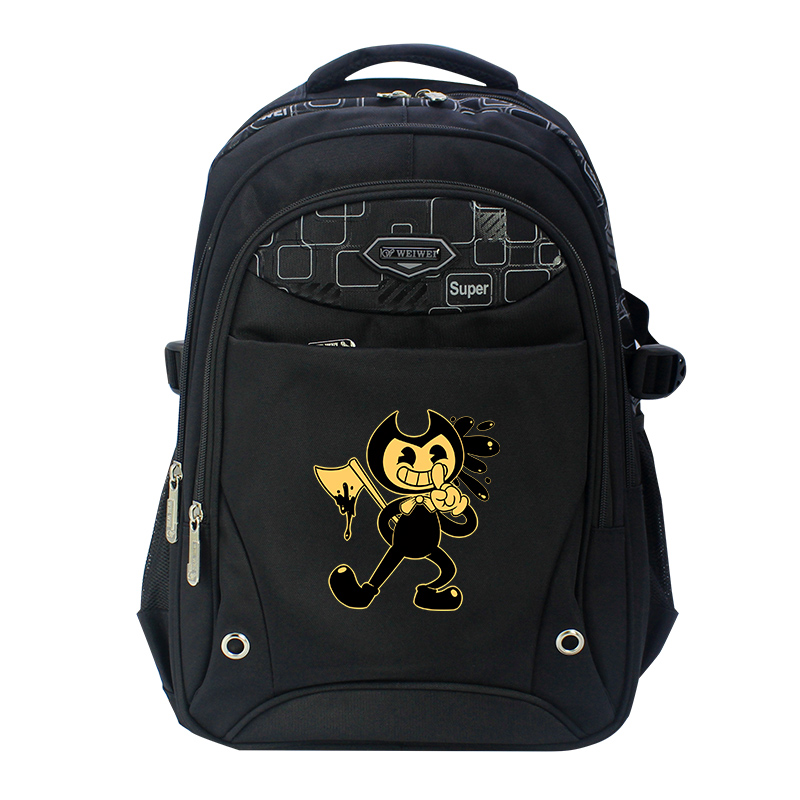 Bendy black Oxfords Anime Backpack Mochila Femina School Bags Laptop Backpacks for Teenage Girls boys men backpack student school bag for teenager boys large capacity trip backpacks laptop backpack for 15 inches mochila masculina
