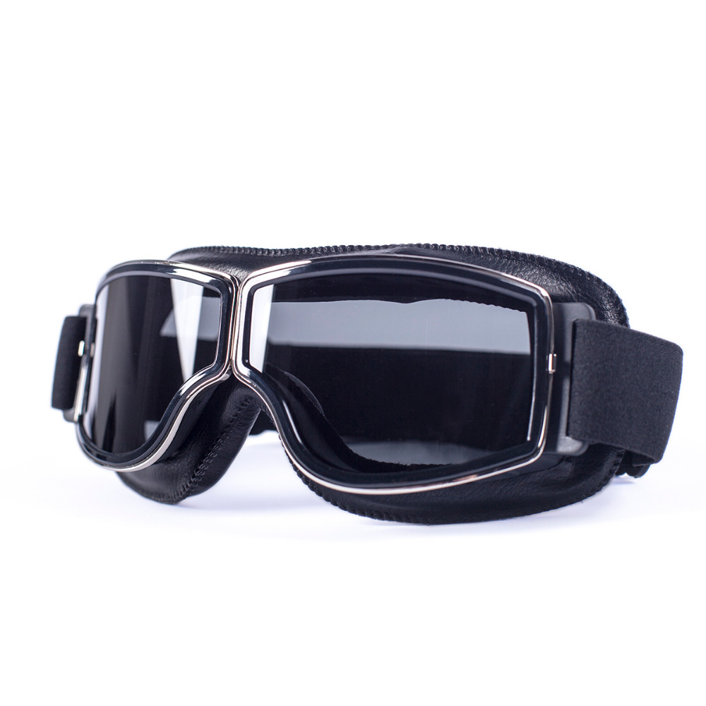 evomosa Universal Motorcycle Vintage Goggles Pilot Motorbike Scooter Biker Glasses Steampunk Goggles For Harley Helmet