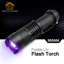 BRIGHTINWD UV Ultra Purple Violet Light UV Torch LED Flashlight Blacklight Light 365 NM Inspection Lamp Torch
