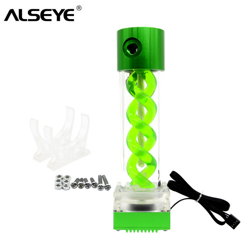 ALSEYE Water Cooling Pump and Tank PWM Speed Control 6M 8L/min Water Cooler Alumilum alloy integrated