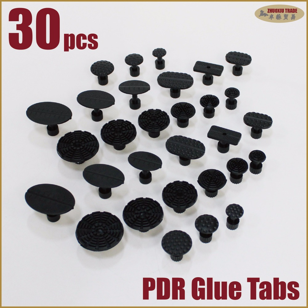 PDR glue pulling puller tabs kit suction cup paintless dent repair removal station car hail damge door panel remove lifting body