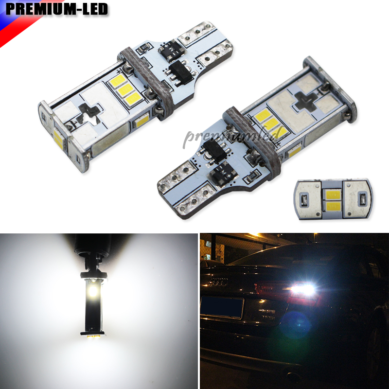 2pcs T15 W16W LED Canbus Bulb Error Free 10-LED 3020 Extremely Bright 912 921 Car LED Back-up Light Auto Reverse Lamp Bulb,white 2 x error free super bright white led bulbs for backup reverse light 921 912 t15 w16w for peugeot 408