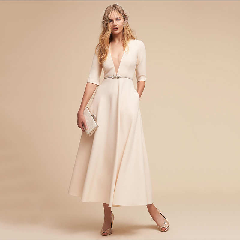 Vintage Autumn Summer Dress Women 2018 Elegant Ball Gown Dress Female Sexy V Neck Long Dress Casual White XL Sexy & Club Party