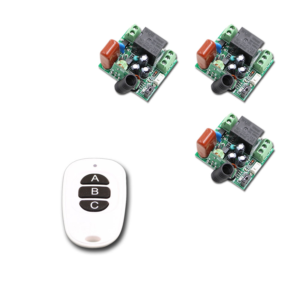 New Mini Size RF Wireless Remote Control Switch System Waterproof Transmitter & 3pcs Receivers315/433mhz Learning Code 2 receivers 60 buzzers wireless restaurant buzzer caller table call calling button waiter pager system