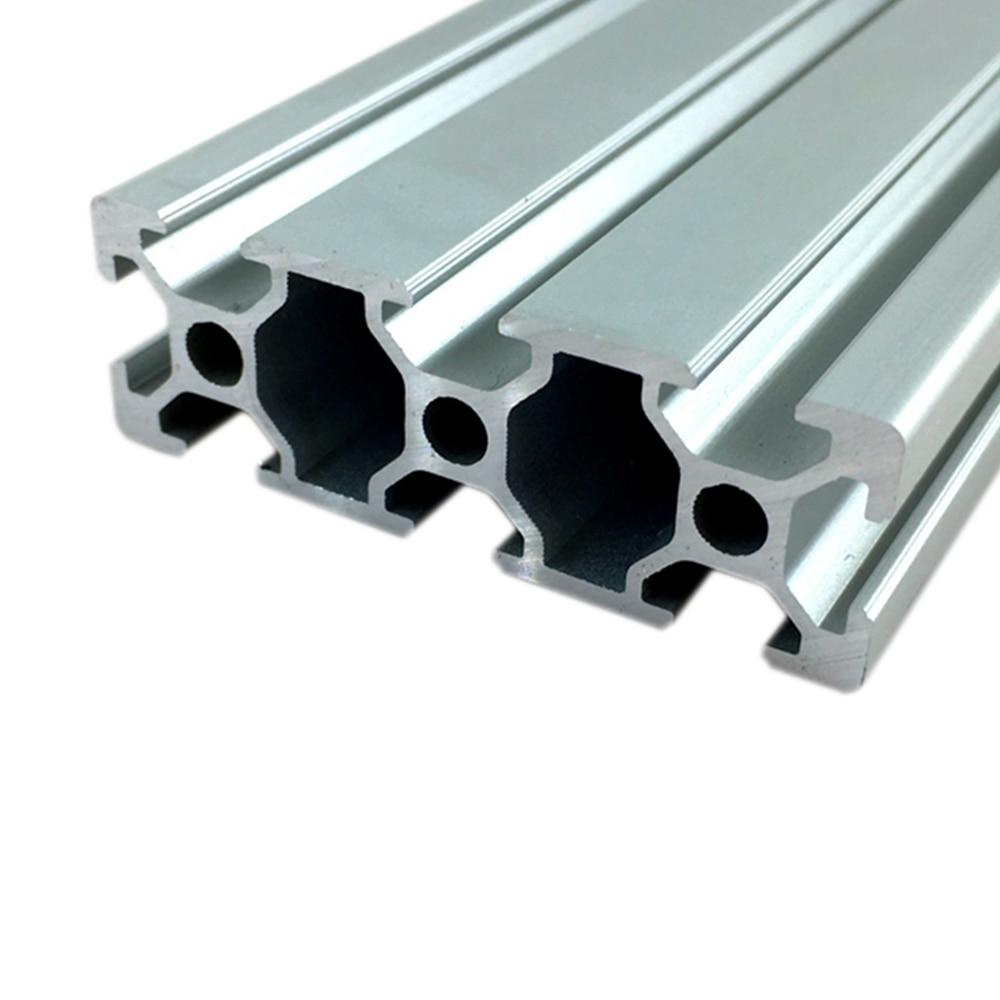Rail linéaire anodisé Standard européen | Extrusion de profil en aluminium 2060 100mm- 800mm de long pour bricolage, bricolage, établi dimprimante 3D 1 pièce
