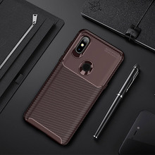 For Xiaomi Mi Mix 3 Case Carbon Fiber Classic Phone Bag Silicone Business Matte Cover