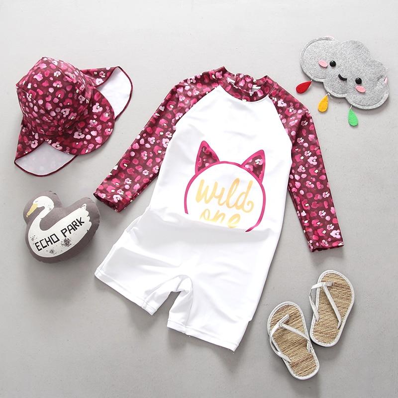 Ein Stück Mädchen Badeanzug Langarm UV 50 + Blumen mädchens Bademode Kleinkind Schwimmen Anzug Bademode Badeanzüge Badeanzüge für Kinder