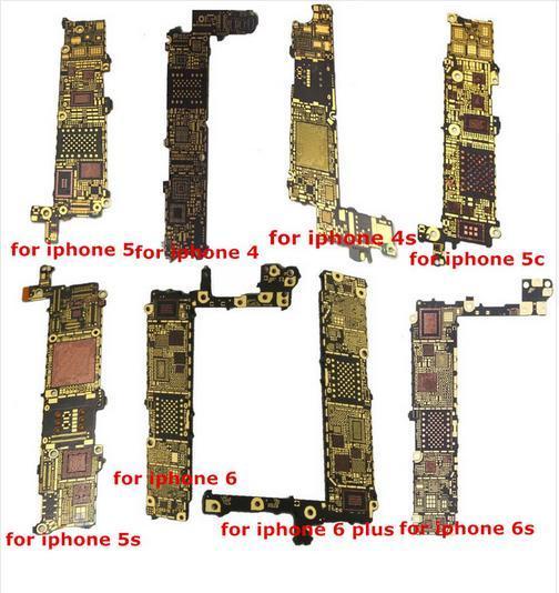 imágenes para 9 unids Prueba Principal Motherboard Placa Lógica Bare Reparación de Piezas para iphone 6 4s 5g 5S 5c 6g 6 6 s 6 s +