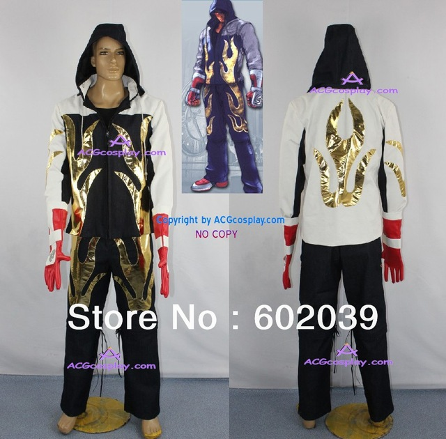 tekken 4 jin kazama hoodie jacket denim and canvas made include faux