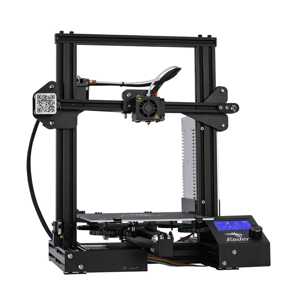 Image 3 - New Ender 3 3D Printer DIY Kit V slot prusa I3 Upgrade Resume Power Off Ender 3X Large Print Size 220*220*250 Creality 3D-in 3D Printers from Computer & Office