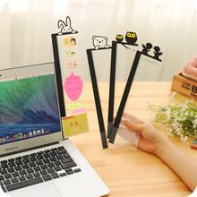 Creastive Cute Monitor Memo Board Screen Display Message Board Transparent Memo Note Clips Photo Holders