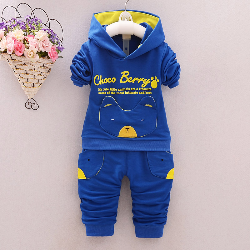 Baby Boy Clothes 2017 Spring Autumn Long Sleeved Hooded Hoodies Tops + Pants 2PCS Outfits Kids Bebes Jogging Suits Tracksuits