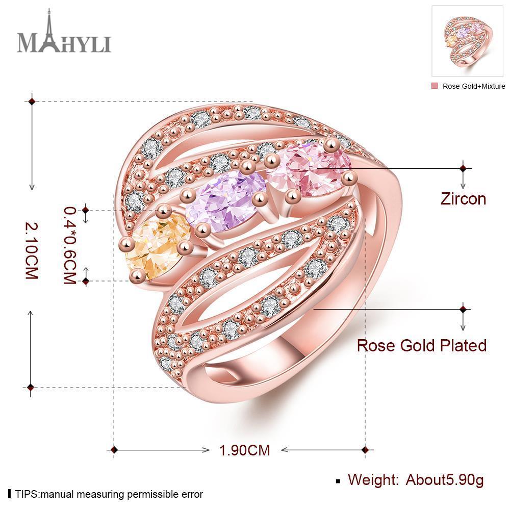 MAHYLI fashion big CZ Zircon women\'s Ring Stainless Steel Jewelry ...