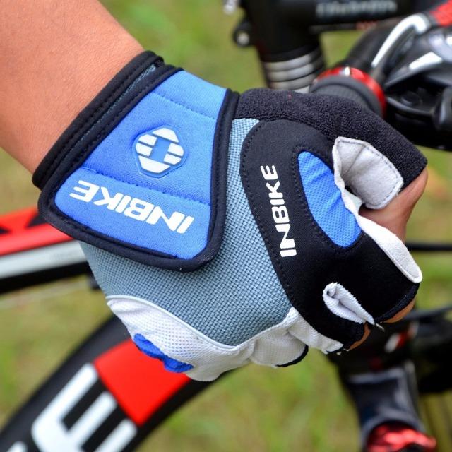 INBIKE Cycling Gloves Half Finger Bicycle Gloves Bike Gel Pad Racing Biking Gloves guarantees ciclismo luva guantes bisiklet IF239