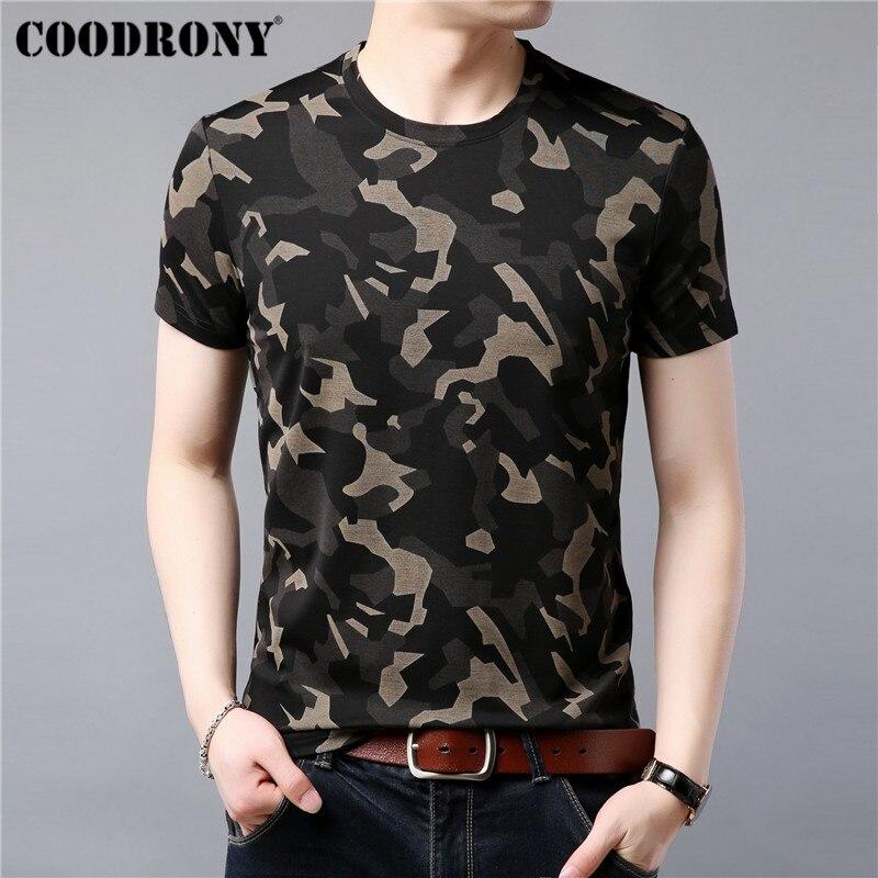 COODRONY T Hemd Männer Kurzarm T-Shirt Männer Sommer Streetwear Fashion Camouflage männer T-Shirts Oansatz T Hemd Homme S95041