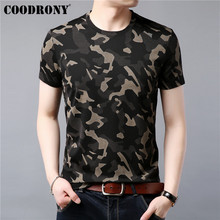 COODRONY T Shirt Men Short Sleeve T-Shirt Summer Streetwear Fashion Camouflage Mens T-Shirts O-Neck Tee Homme S95041
