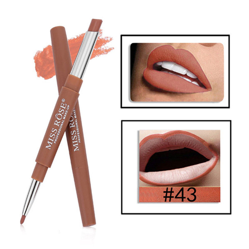 MISS ROSE 14 Colors 2 in 1 Lip Liner Pen Waterproof