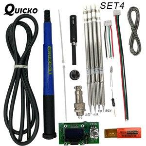 Image 4 - QUICKO controlador Digital de temperatura T12 STC OLED, estación de soldadura de hierro, panel de pantalla de soldadura aplicable a puntas HAKKO T12