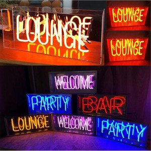 Image 1 - Vintage LOUNGE witamy neon Night Light prawdziwe szkło Tube rzemieślnicze na piwo do baru lampa Pub rekreacja Decor AC 220V 230V