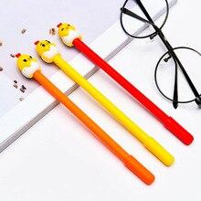 36pcs/lot Student Cute Chick Gel Pen 0.5MM Black Ink Pens School Stationery Office Supplies