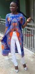 2018 африканские платья Дашики Riche Срок годности Хлопок спандекс новый национальный ветер Тотем печати в длинные женская одежда