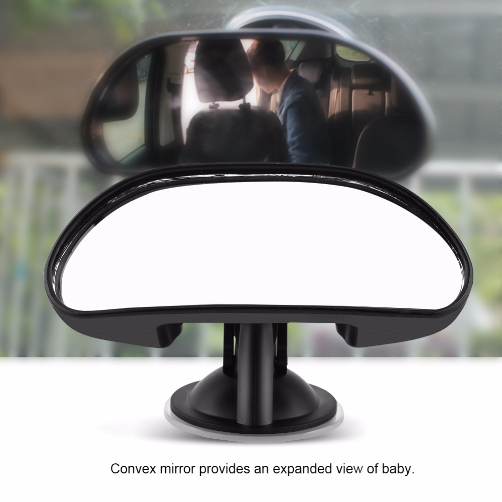 1Pc Adjustable Car Child Back Seat Rear View Safety Mirror With Suction Cup Black Car Back Seat Baby View Mirror