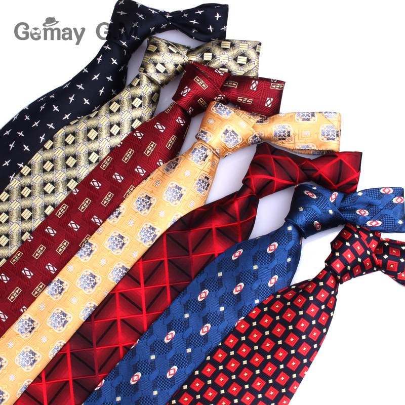 Classic 100% Silk Ties For Men Business Jacquard Woven Neckties Plaid Striped Men Tie For Wedding Gifts Mens Neck Tie 10cm Width
