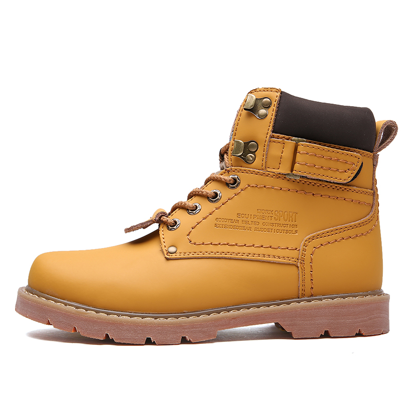 068m 068 De Ferramental Brown Up Amantes 46 Light Plus 35 Trabalho Botas M Dos Lace 068m Inverno Dark Moda Ankle Homens Amarelo Yellow Boots Couro Size Unissex HgwSnvqE