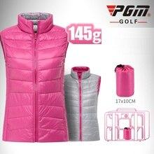 Pgm, женские легкие куртки для гольфа, аутентичная жилетка без рукавов, женская утепленная, теплая, ветрозащитная жилетка для гольфа, D0507