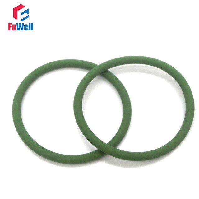2pcs 2.5mm Thickness Green Viton O ring Seals 165/170/175/180/185 ...