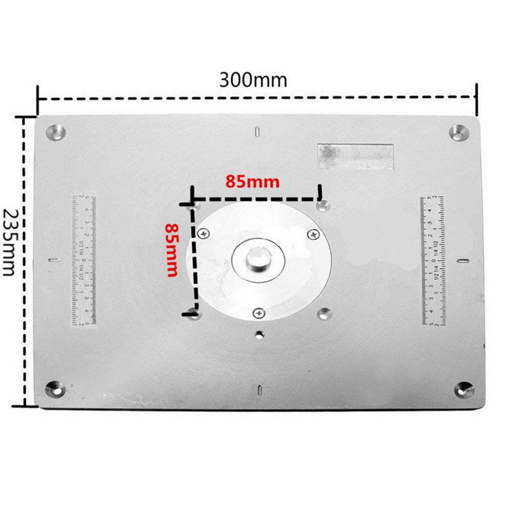 Aluminum Alloy Router Table Insert Plate For Popular Router Trimmers Models Engraving Machine DIY Woodworking Benches T-wrench