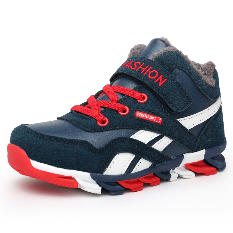 все цены на Children Shoes Kids Shoes Boys Casual Kids Sneakers For Boys Leather Fashion Sport Children Sneakers 2018 Autumn Winter онлайн
