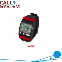 433.92MHZ Wireless watch wrist calling receiver Y-650 for waiter use