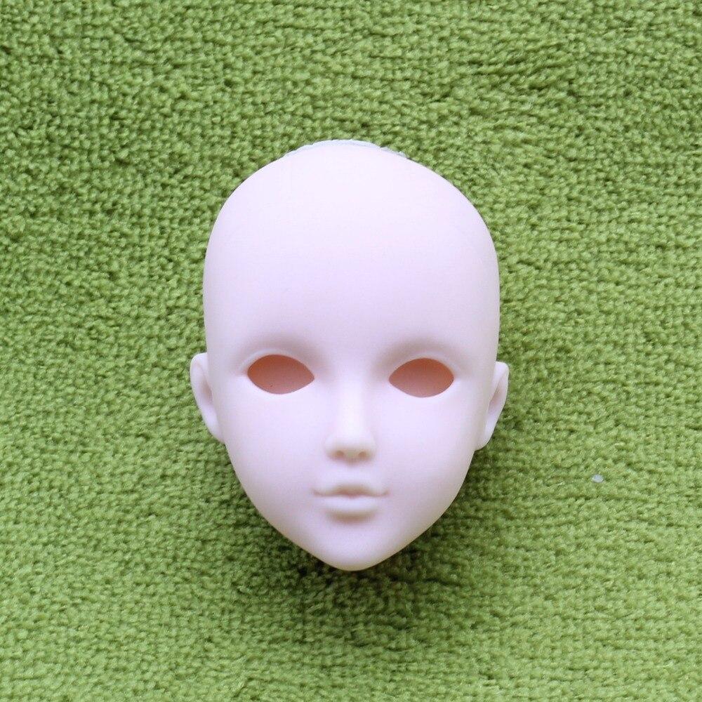 2 pièces/lot doux bricolage haute qualité pratique maquillage poupée têtes pour 1/6 BJD comme pour 29cm poupée pratique maquillage tête sans cheveux